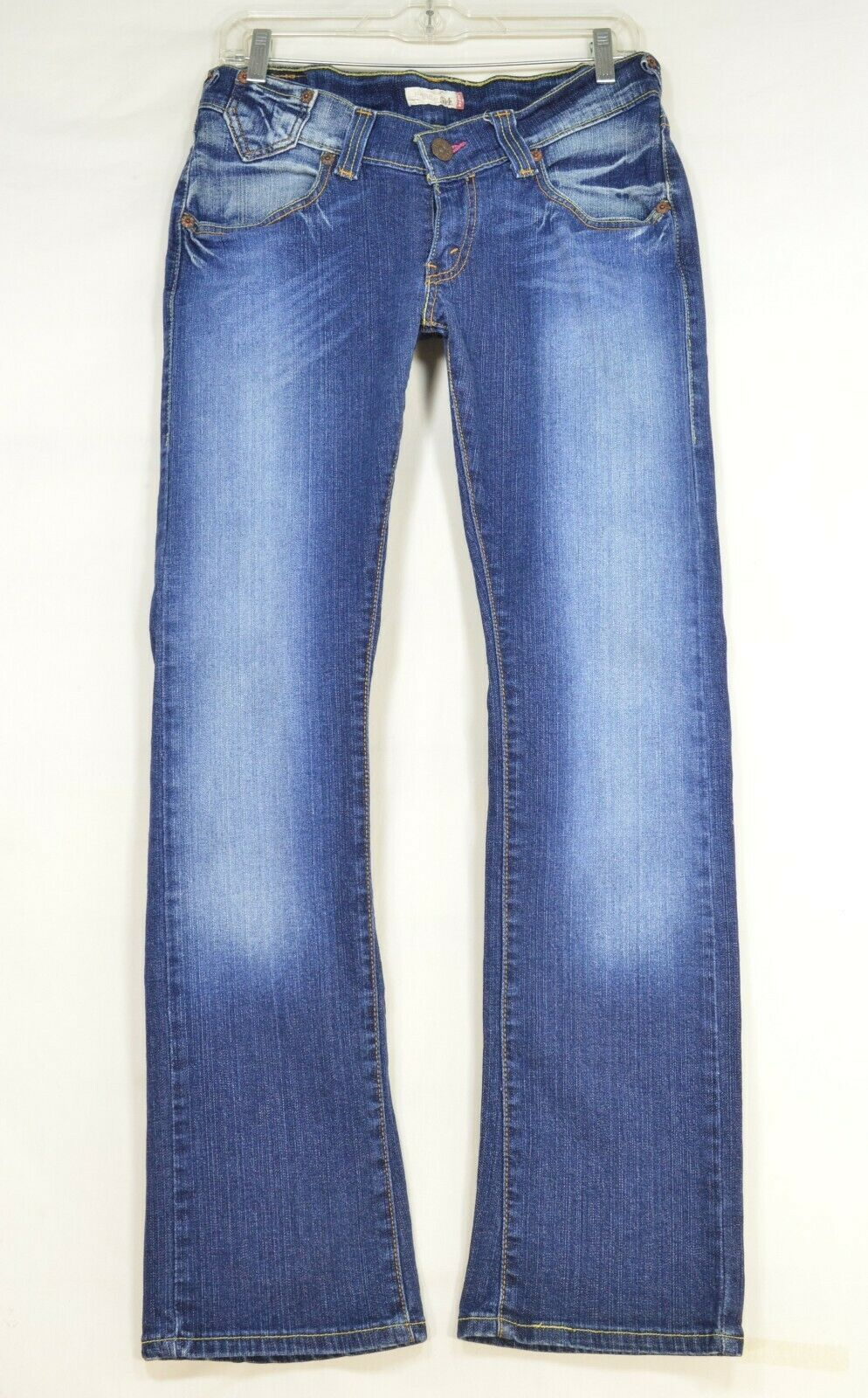 Levi 504 7 x 32 slouch straight leg low rise dark wash image 11