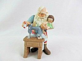 Hallmark Fine Porcelain Figurine Stitched With Love 1998 Christmas  - $12.86