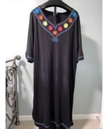 Go Softly Patio Dress 3 Xl Mexican Peasant Puebla Embroidered. Folk Art ... - $30.68