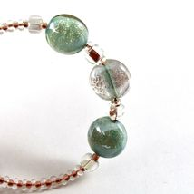 Bracelet Antica Murrina Venezia with Murano Glass Pink and Green BR687A38 image 3