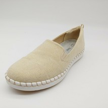 Clarks Cloudsteppers Womens Step Glow Slip On Sneaker Soft Gold 5M - $32.17