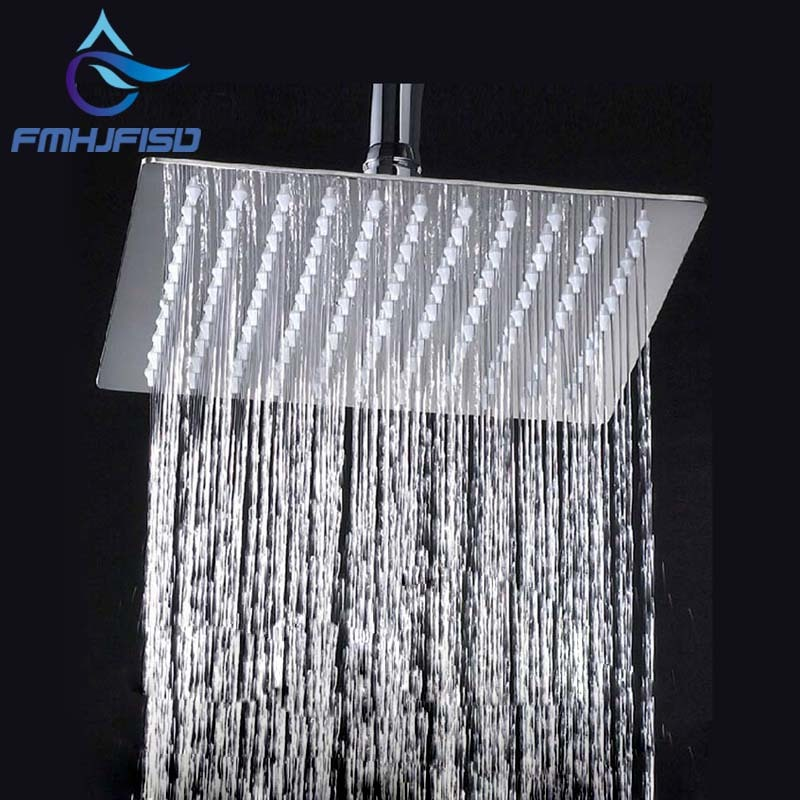 Ree shipping wholesale and retail 8 chrome brass shower head over head shower sprayer top shower