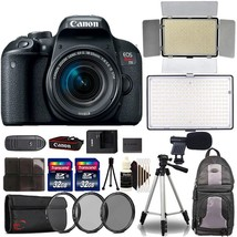 Canon EOS Rebel T7i 24.2MP Digital SLR Camera, 18-55mm and Two LED Light... - $985.05