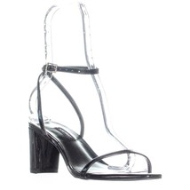 Nine West Provein Ankle Strap Block Heel Sandals, Black - $33.99