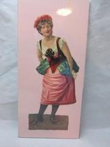Victorian embossed die cut. Lady in European Country dress - $8.99