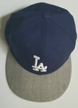 La Dodgers New Era 59 Fifty Blue Heather Grey Logo Fitted Hat 7 1/2 - £12.04 GBP