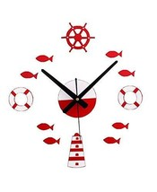 Panda Superstore Creative Design DIY Mediterranean amorous feelings Wall Clock [