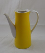 Vintage Mid Century Modern Yellow & White Tall Pitcher 1950s 1960s 1970s... - $21.99