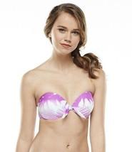 Candies Swim Strapless Bikini Underwire Push-Up Fushia Multi Top Junior - $9.99