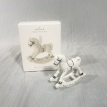 Hallmark Baby's First Christmas - Porcelain Rocking Horse 2012 Keepsake ... - $24.74