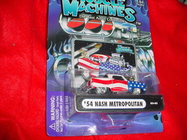 Muscle Machines '54 Nash Metropolitan Red White & Blue 03-43 Mip Free Usa Ship - $11.29