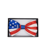 Stylish USA BOW TIE in American Flag Design Silk Feel Soft Costume Acces... - $5.50