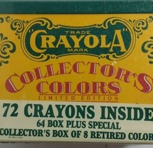Vintage Sealed Crayola Collectors Colors Limited Edition Tin w/Crayons 1991 NEW - $9.40