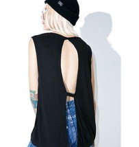 NWT $40 Cheap Monday Gone Tank Top Shirt - Black Ribbed Open Back sz L - $16.63