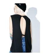 NWT $40 Cheap Monday Gone Tank Top Shirt - Black Ribbed Open Back sz L - $16.63