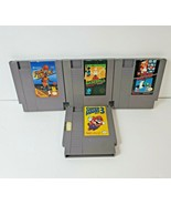 Lot of 4 Original Nintendo NES Game Cartridges - Mario, Mario Bros 3, Ba... - $15.14