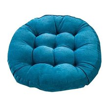 21-Inch Round Floor Pillow Tufted Support Padded Boosted Cushion, Blue - $38.07
