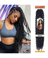 Passion Twist Hair 18 inch 6 packs Water Wave Crochet Braids for Passion... - $46.29