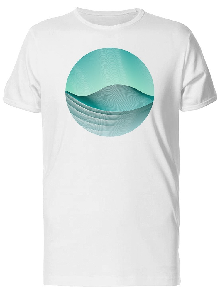 Circle Ripple Waves Geometric Men's Tee -Image by Shutterstock