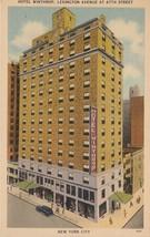 Hotel Winthrop Lexington Avenue New York City NY Postcard Linen Colourpicture - $3.34