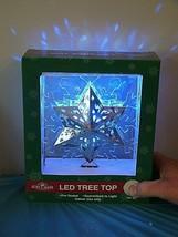 BRAND NEW KURT ADLER SIL/BLU PROJECTION LED WHITE LIGHTS CHRISTMAS Tree ... - $31.67