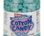 Herr's Crunchy And Sweet Cotton Candy Balls 18 Oz Barrel  Party Snack Corn Snack