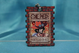 Bandai One Piece Portrait Plate P1 Gashapon Keychain Figure Portgas D. Ace - $16.99