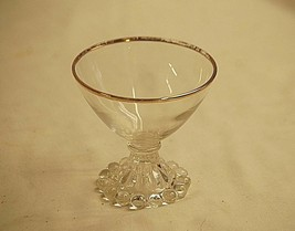 """Old Vintage Boopie Gold by Anchor Hocking Champagne Tall Sherbet Glass 3-1/2"""" - $9.89"""