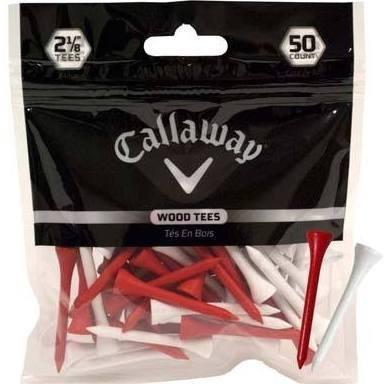 "Callaway 2 1/8"" Red & White Wood Golf Tees - $3.99"
