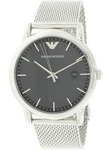 Emporio Armani Men's Watch AR11069 Silver Stainless Steel Bracelet 43mm ... - $211.45 CAD