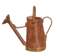 """Dollhouse Miniature Watering Can Rusted Tall Antique 1½"""" Tall 1:12 Scale - $7.98"""