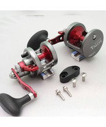 LEFT Hand Omoto Talos TS12 Fishing Jigging 25# Wide Reel Ocean/Fresh yel... - $189.95