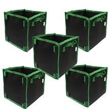 CASOLLY Square Fabric Grow Bag/Pot 10 Gallon 5 Bags Garden Planting Bags... - $26.04 CAD