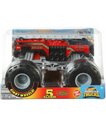 Hot Wheels Monster Trucks 5 Alarm Fire Department Die-Cast Car 1:24 Scale - $36.65