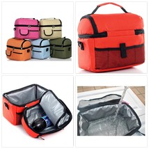 Portable Shoulder Lunch Picnic Bag Insulated Cooler Ice Bag Lunch Box Fo... - $28.07