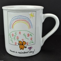Koala Bear Have A Rainbow Day Vtg Hallmark Coffee Mug Tea Cup Japan Smile Cute - $12.55