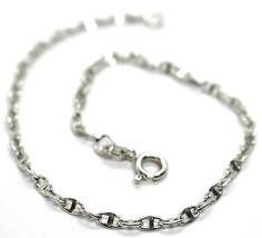 Bracelet White Gold 18K 750, Jersey Marina, Marinara, Crosspiece Criss Crossed image 1