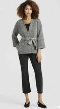 Eileen Fisher Black Handwoven Organic Cotton Bracelet Sleeve Kimono Jack... - $134.35