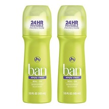 Ban Roll-On Antiperspirant Deodorant, Simply Clean, 3.5oz Pack of 2 - $15.29