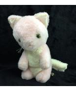 """Eden Vintage Kitty Cat Musical Turn Key Pink WHite Plush 8"""" Green Eyes - $72.55"""