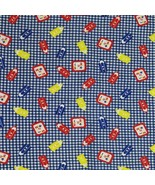 Springs Industries Back to School Check Print Fabric Material 21 x 69 in... - $12.86