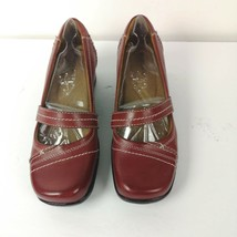 Naturalizer Shoes Sz 6 M Burgandy Red Leather Mary Janes Comfort New ❤️ - $49.99