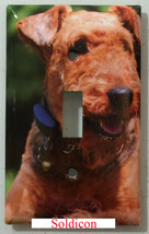 Airedale Dog Light Switch Power Outlet wall Cover Plate Home decor All size image 1