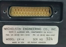 MICHELSON ENGINEERING CO. LV-4 LIGHT VALVE LV4 image 6