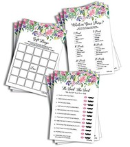 Large Floral Bridal Shower Game Pack (150-sheets) - 50 He Said She Said ... - ₨2,622.23 INR