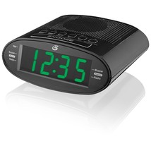 Led Alarm Clock Radio, Gpx C303b Black Green Led Digital Home Clock Alar... - €22,85 EUR