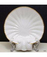 "Noritake Sea Shell Trinket Dish 5"" Ivory Gold Trim Ring Holder Candy N3893 - $13.37"