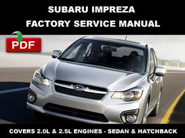 ULTIMATE SUBARU IMPREZA 2008 2009 2010 2011 2012 2013 2014 OEM WORKSHOP ... - $14.95
