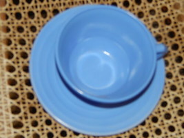 Moonstone Blue Cup & Saucer Regular Sized Cup - $16.02