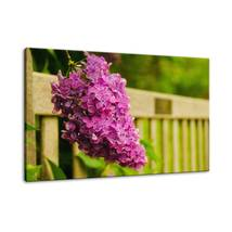 An item in the Art category: Park Bench with Lilac Floral / Nature Fine Art Canvas & Unframed Wall Art Prints